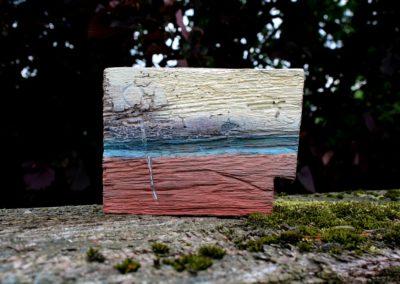 Schlossgeschichten 04 | Holz, Acryl | 14 x 19 x 3 cm