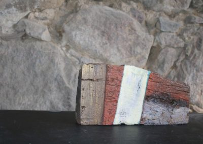 Schlossgeschichten 09 | Holz, Stoff, Acryl | 17 x 34 x 6 cm