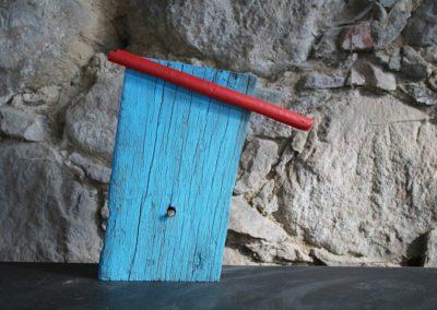 Schlossgeschichten 13 | Holz, Nagel, Acryl | 40 x 23 x 6 cm