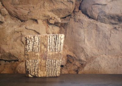 Schlossgeschichten 14 | Holz, Mullbinde, Acryl | 33 x 28 x 6 cm