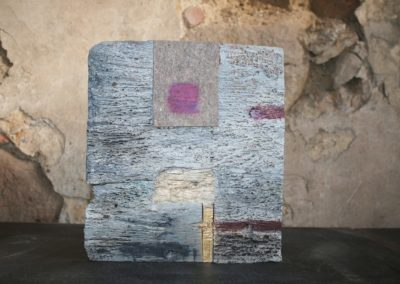 Der Wächter der Wärme | Holz, Filz, Acryl | 38 x 34 x 6 cm