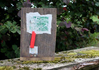 Kunstfluss | Holz, Papier, Acryl | 36 x 24 x 7 cm