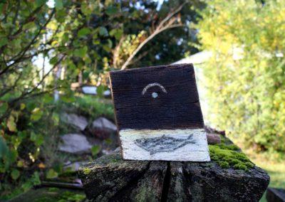 Schlossgeschichten 18 | Holz, Frottage, Acryl | 23 x 19 x 6 cm