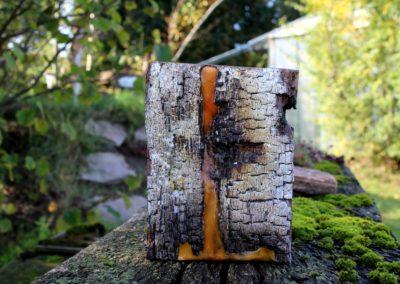 Schlossgeschichten 19 | Holz, Bienenwachs, Acryl | 20 x 15 x 6 cm