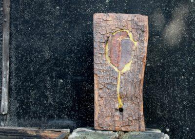 Schlossgeschichten 20 | Holz, Bienenwachs, Blech | 35 x 16 x 6 cm